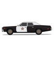 70s police car vector image