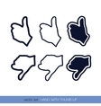 Hand with thumb up3 vector image