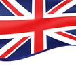 Waving flag of united kingdom background vector image