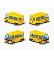 Low poly yellow passenger minivan vector image