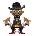 Black man cartoon fictional character vector image