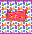 best price advert banner seamless pattern shopping vector image