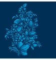 blue flower ornament gzhel russian style vector image