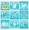 Set of Social Media Backgrounds vector image