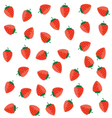 strawberry color red on a white vector image