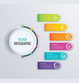timeline infographic design and marketing vector image