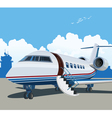 private aviation vector image vector image
