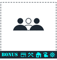 Group people icon flat vector image