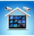 Video security concept vector image