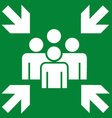Fire Evacuation Meeting Point Sign vector image