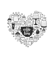 Hand drawn coffee time vector image