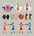 Boxing Graphic Elements vector image