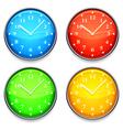color clock vector image
