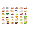 Food market flat icons vector image
