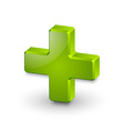 Plus or medical cross symbol vector image