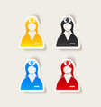 realistic design element nurse vector image