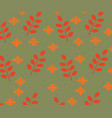 seamles autumn leaves pattern vector image
