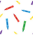 seamless background wax colorful crayons vector image