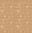 seamless hipster pattern in light brown color vector image