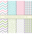 Set of seamless patterns in pastel colors for vector image