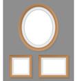 set of wooden frames vector image