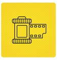 Retro photo icon Camera roll sign vector image