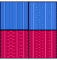 Set of striped patterns vector image