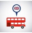 london city classic icon vector image