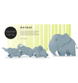 Cute animal family background with Elephants 1 vector image