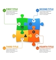 Jigsaw puzzle pieces infographic business vector image