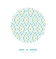 Green ikat diamonds frame circle decor patterns vector image