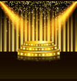 Spotlight of shining on stage background vector image