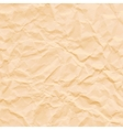 Texture of crumpled sepia paper vector image