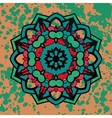 watercolor colorful abstract round mandala design vector image