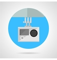 Extreme sport camera flat icon vector image