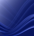 Black and blue waves modern futuristic abstract vector image
