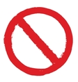 Not Allowed Sign grunge vector image