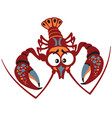Cartoon crayfish vector image