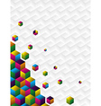 Multicolor cubes background vector image