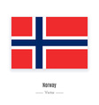 Norway Flag Icon vector image