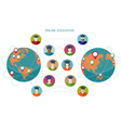 Online learning Conceptual banner People flat icon vector image