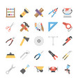 pack of power tools flat icons vector image