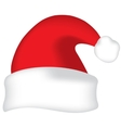 Red Santa hat vector image