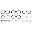 Set of spectacle frames vector image