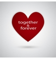 I love you Gift ard Valentines Day vector image