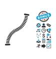 Flexible Pipe Flat Icon with Bonus vector image