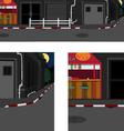 long street at night vector image vector image