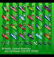 American soccer teams vector image