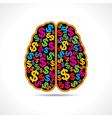 Conceptual idea -Brain with dollar symbol vector image