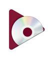 play cd button vector image